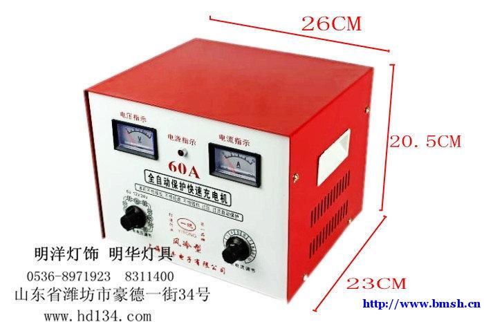红色线夹接电瓶正极,另一个线夹接电瓶负极此时充电